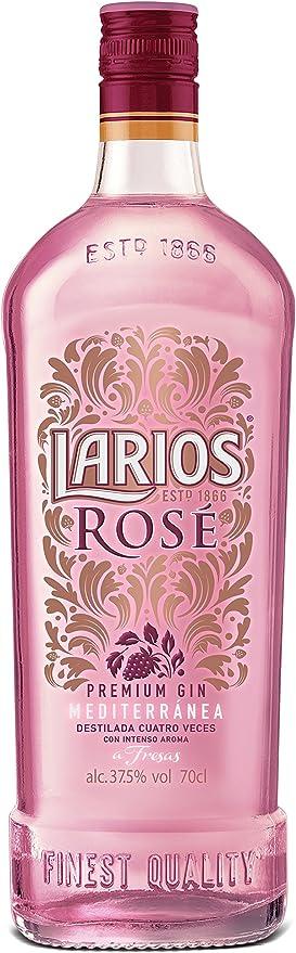 Larios Rose Ginebra Mediterránea, 37.5% - 70 Cl: Amazon.es ...