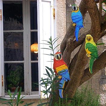 K7plus Papagei Ara 31 Cm Fur Zaun Wand Und Balkon Grundfarbe