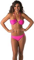 ced8004104e7f Lena Style Women s String Sexy Bikini Set Push up Brazilian Swimsuit Pink
