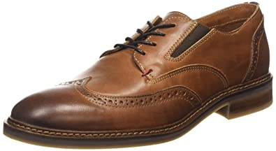 Tommy Hilfiger Men's HOWARD 1A Brogue Lace-Up Half Shoe