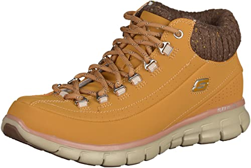 Skechers, Stivaletti donna, Giallo (Golden Tan), 37: Amazon ...