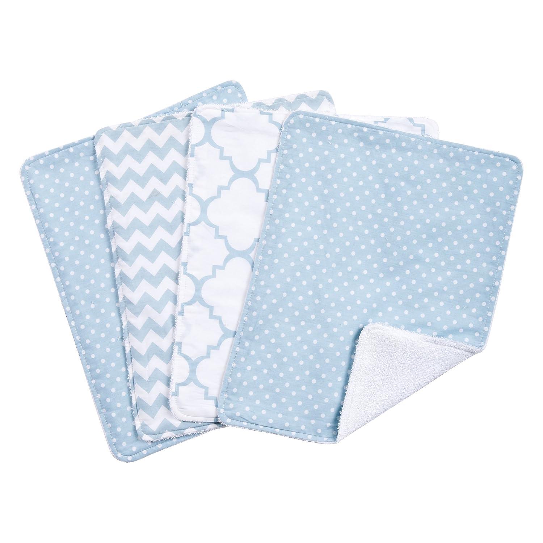 Trend Lab Sky 4 Pack Burp Cloth Set, Blue 101833