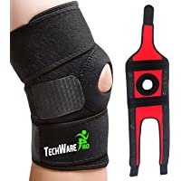 TechWare Pro Knee Brace Support - Relieves ACL, LCL, MCL, Meniscus Tear, Arthritis, Tendonitis Pain. Open Patella Dual…