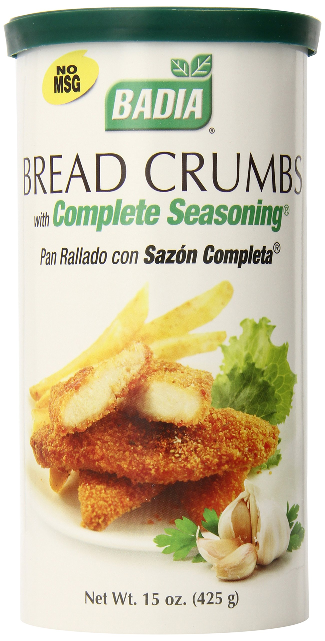 Badia Bread Crumbs with Complete Seasoning, 15 Ounce (Pack of 12)