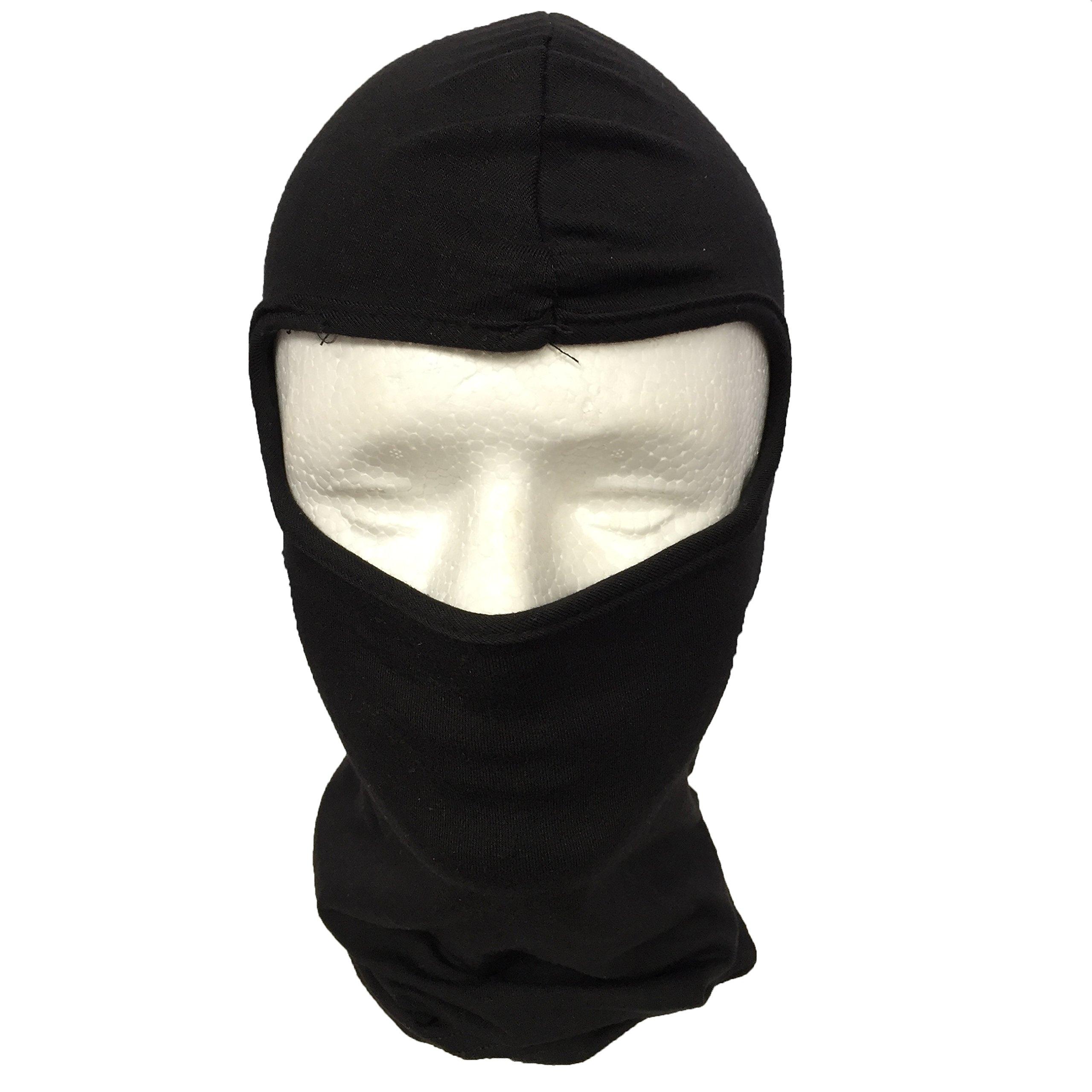Cotton Konnection 2 Pack, Black Spandex Ninja mask, face mask, Ski mask,Helmet Liner