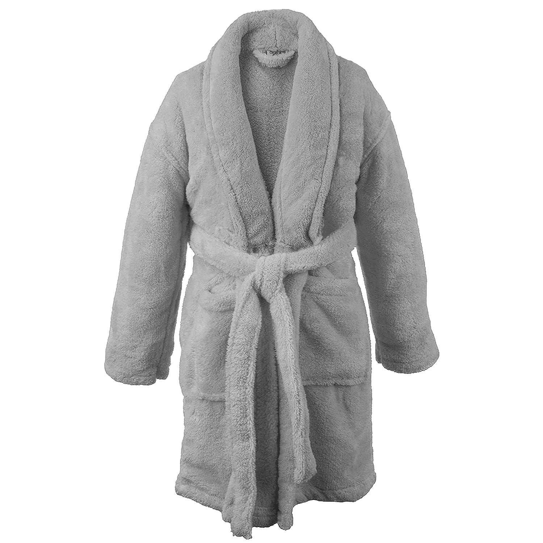 BC BARE COTTON Bare Cotton Kids Microfiber Fleece Shawl Robe - Girls