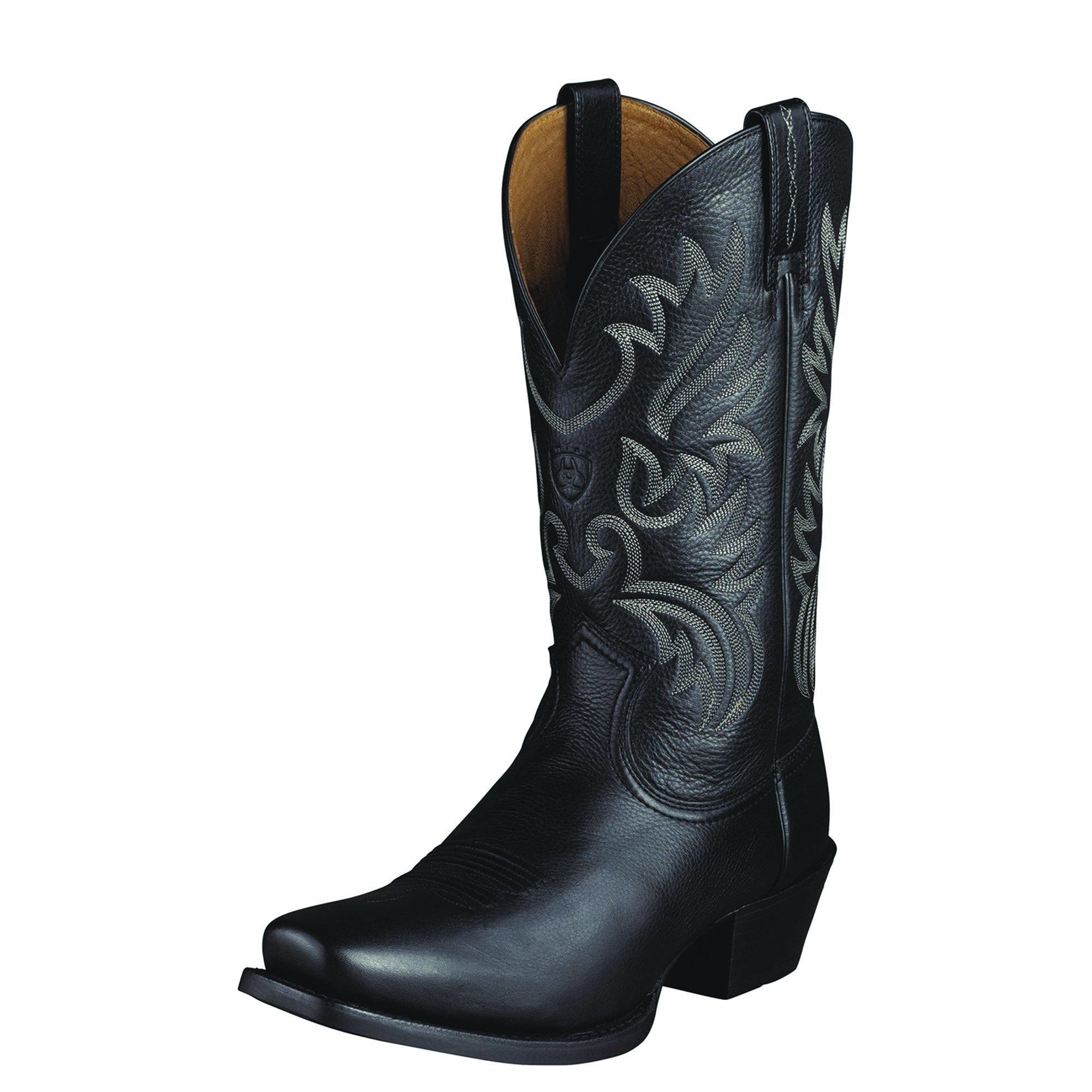 Ariat Men's Legend Western Boot, Black Deer Tan, 10.5 D US