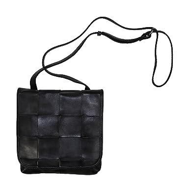 Patricia Nash Woven Flap Granada Italian Leather Crossbody Purse (Grey) 65a656beb7