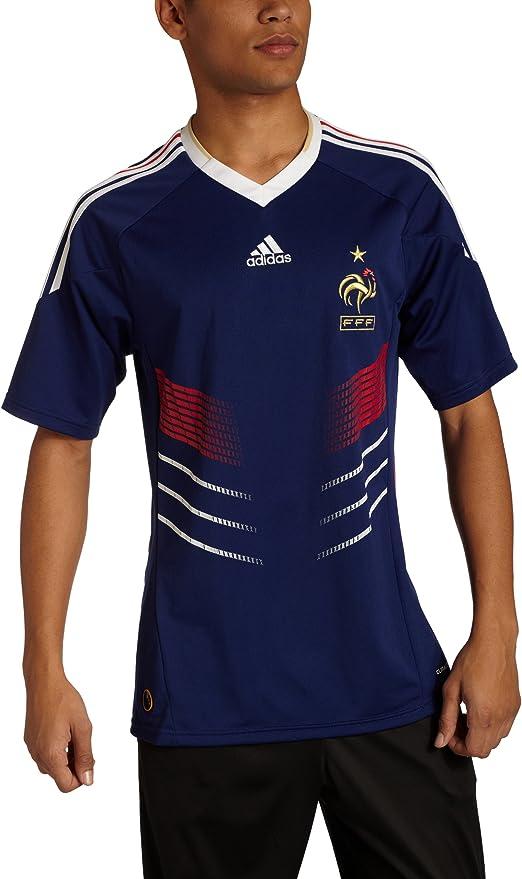 adidas Francia 2010/2011 Home Jersey - P41040, Azul (Mid Blue): Amazon.es: Deportes y aire libre