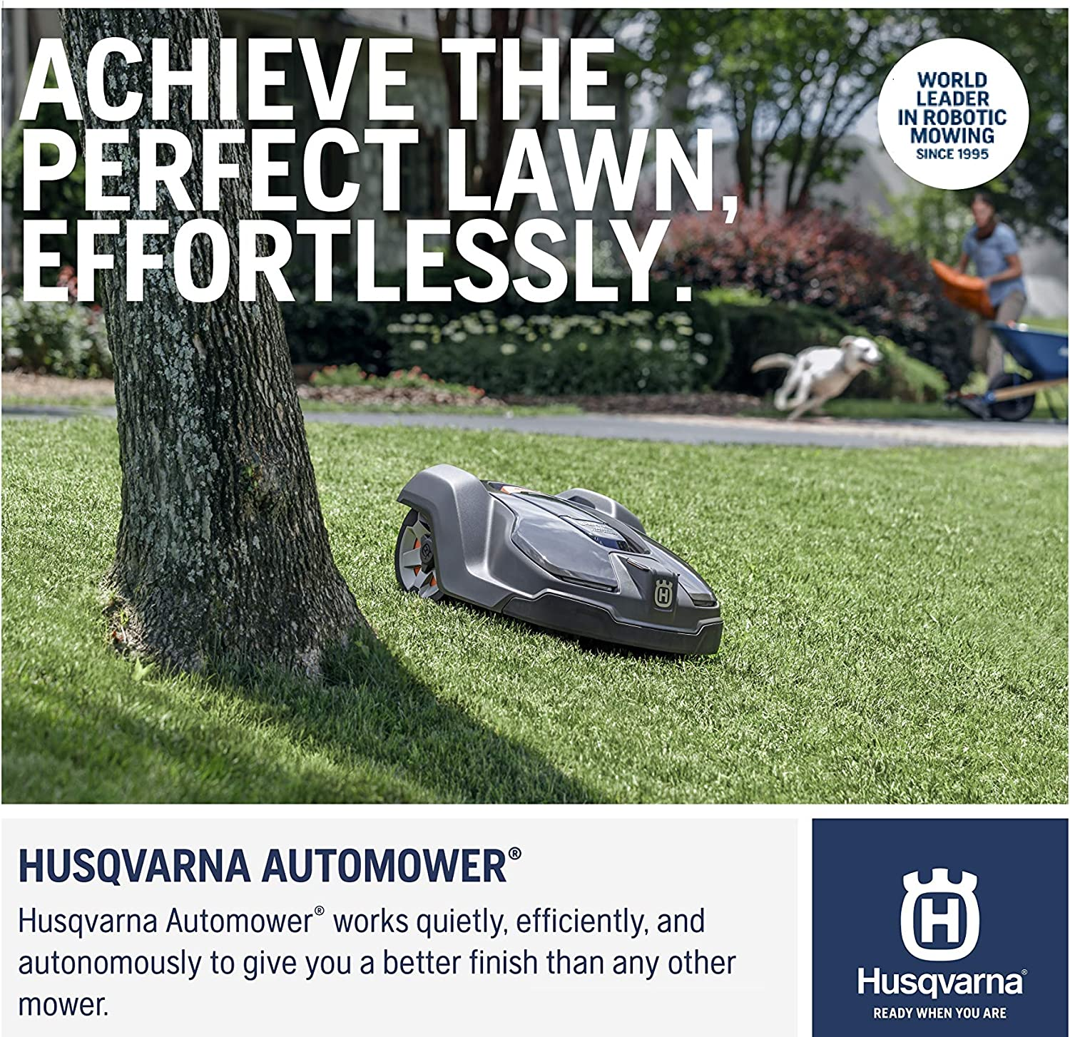 Husqvarna 430XH Robotic Mowers, Orange/Gray