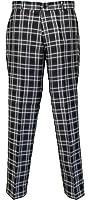 Relco Black Tartan Check Slim Fit Sta-Press Mod/Golf/Retro Trousers