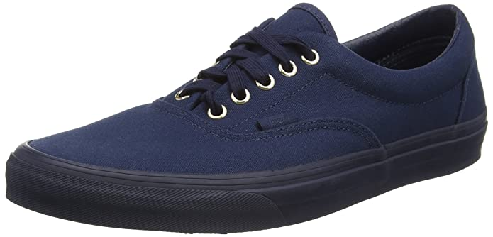 Vans Era Unisex-Erwachsene Low-Top Sneakers Blau (Gold Mono Dress Blues)