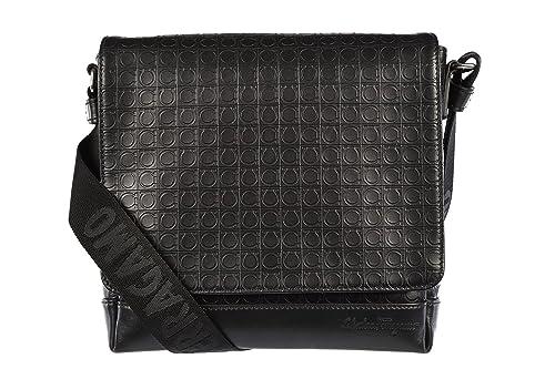 many fashionable wholesale online the latest Salvatore Ferragamo sac homme bandoulière en cuir noir ...