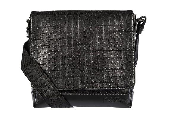 969e15fca8 Salvatore Ferragamo men s leather cross-body messenger shoulder bag black