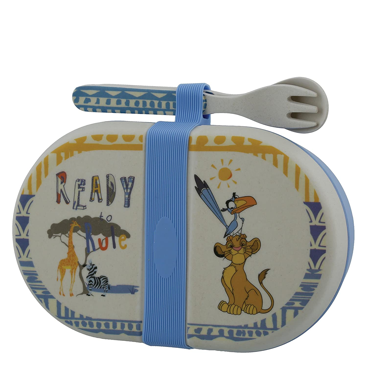 Enchanting Disney Simba Organic Snack Box with Cutlery Set Enesco A28980