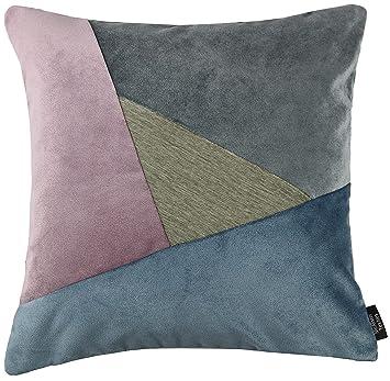 Amazon.com: Triángulo terciopelo Patchwork almohadas y ...