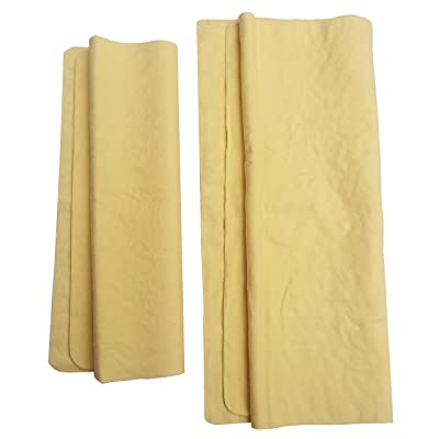 Y 40 THIEVES Drying Chamois Towel for Car Cleaning, Super Absorbent Synthetic Shammy, Environmental and Durable for Car, Boats, RV and Home Cleaning, 2-Piece Set, Yellow: Automotive