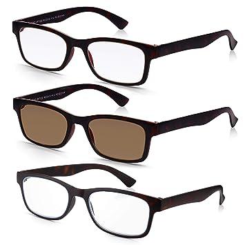 Read Optics X3 PACK de Gafas de Sol para Lectura Graduadas +2.00 Dioptrías con Lentes Tintadas + Protección UV-400 | Montura en Marrón Tortoise | ...