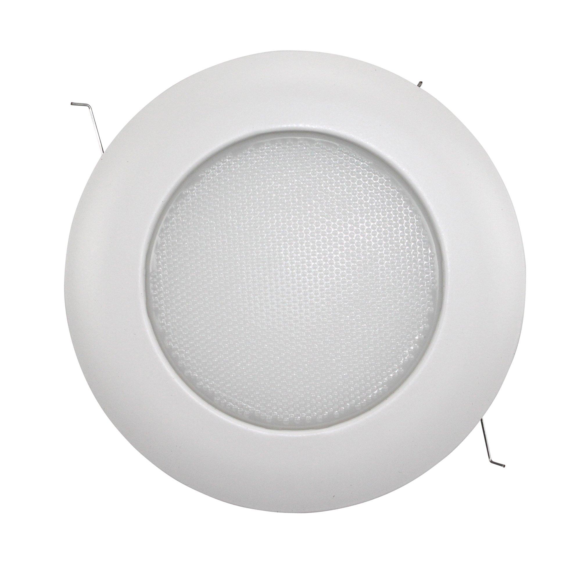 Capri Lighting SH12P Lensed 6'' Shower Light Recessed Ceiling Waterproof Trim, White