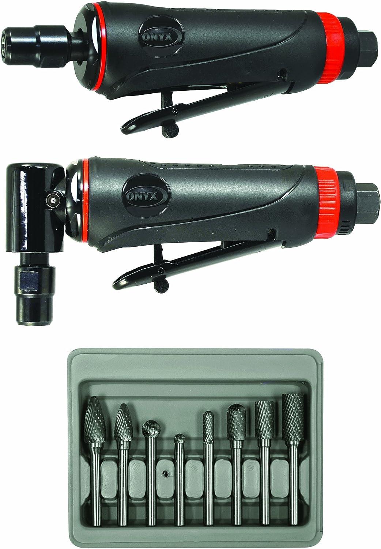 Astro Pneumatic Tool 219 ONYX 3pc Die Grinder Kit w/ 90° Die Grinder, Die Grinder