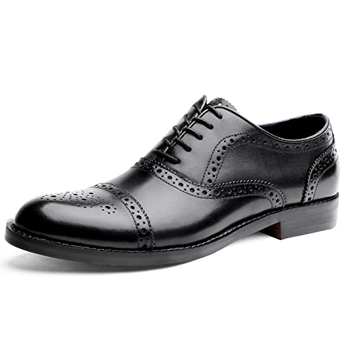 Clarks Gilmore Limit, Zapatos de Cordones Brogue para Hombre, Negro (Black Leather), 40 EU