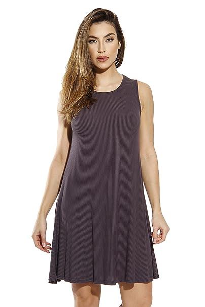 cd16dafff26 Just Love 401560-CHR-S Sleeveless Trapeze Short Dress Summer Dresses for  Women