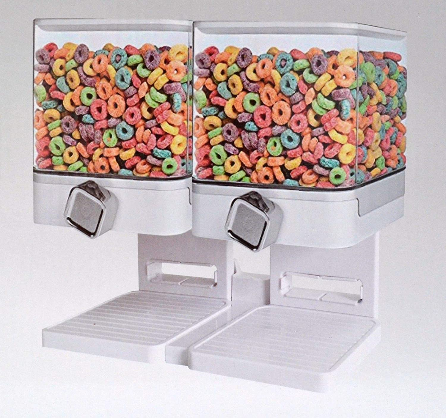 Double Square Cereal Dispenser Dry Food Storage Container Dispenser Machine DiscountSeller