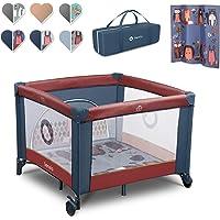 Lionelo Sofie box voor kinderen, opvouwbaar, reisbed, van geboorte tot 15 kg, met zijdelingse ingang draagtas…