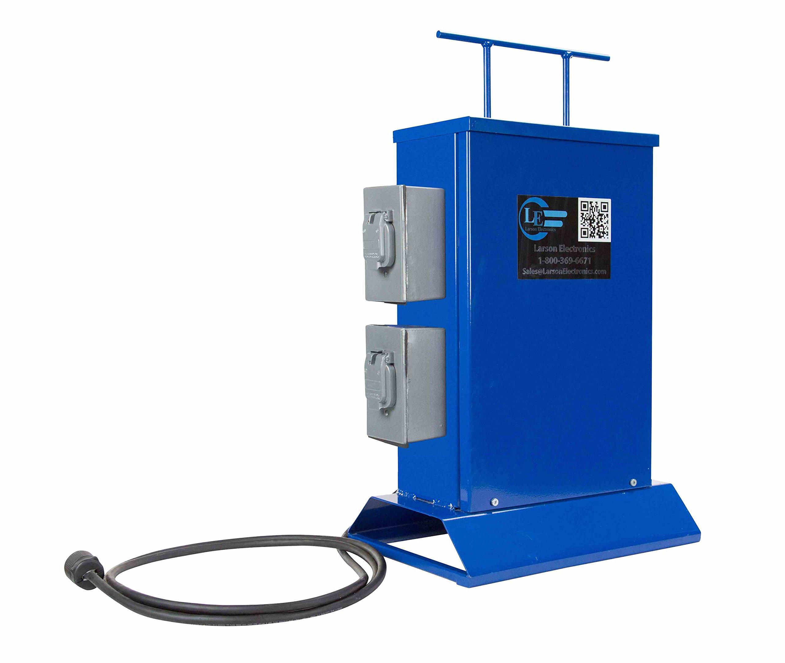 Transformer - 3000 VA - Converts 120V or 240V AC to Low Voltage AC/DC Outlets - 2 Twist Lock Outlets