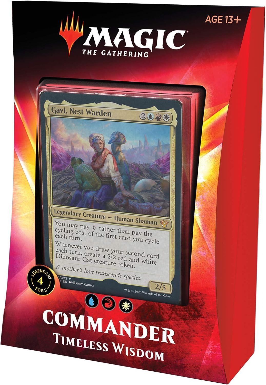 Magic: The Gathering Timeless Wisdom Ikoria Commander Deck | 100 Card Deck | 4 Foil Legendary Creatures