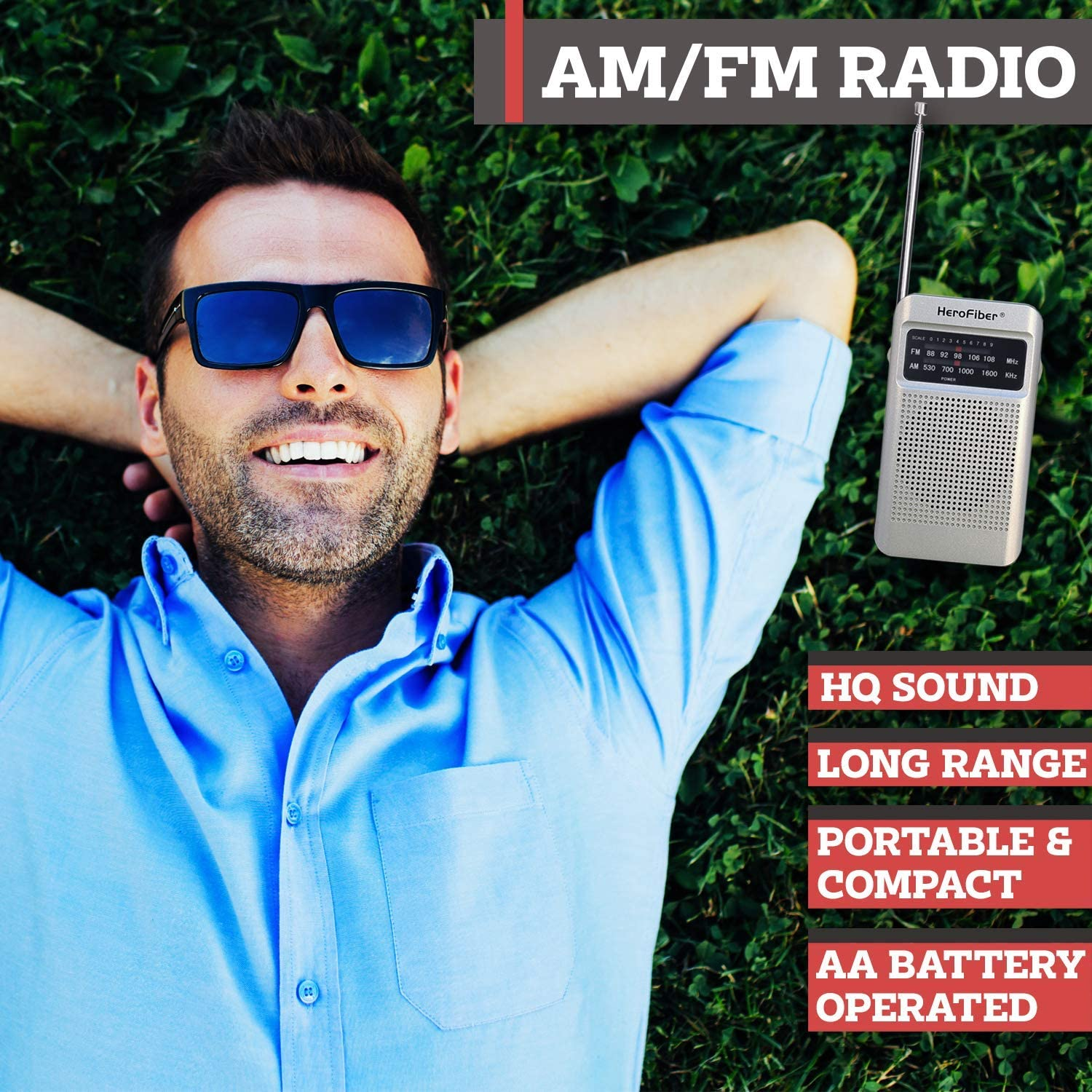 AM FM Radio w//Earphones 4 Portable Lanterns -Batteries Incl Transistor Radio is Small both are AA Battery Operated f//Hiking Collapsible Camping Lamp has Super Bright Light Power Outage Compact