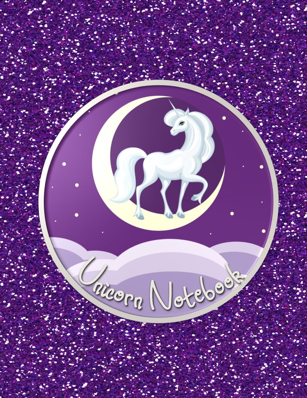 Download Unicorn Notebook: Fun Faux Sparkle Cover - Lined and Sketch Journal Pages For Unicorn Lovers  - Composition Notebook - Unicorn Moon Purple Cover PDF