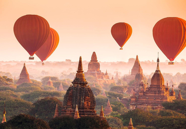 Ballons over Bagan Vlies Fototapete 8-teilig Tapete 366x254cm Bildtapete