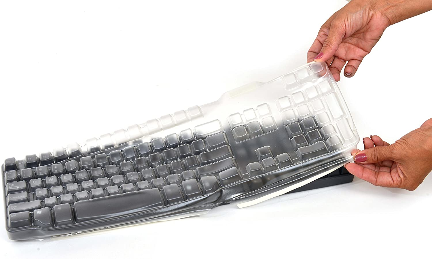Dell SK-8115 LATEX FREE Keyboard cover, protect it from liquid spills, dust, dirt, food, grease and bacteria. Easy to clean and disinfect by Comp Bind Technology