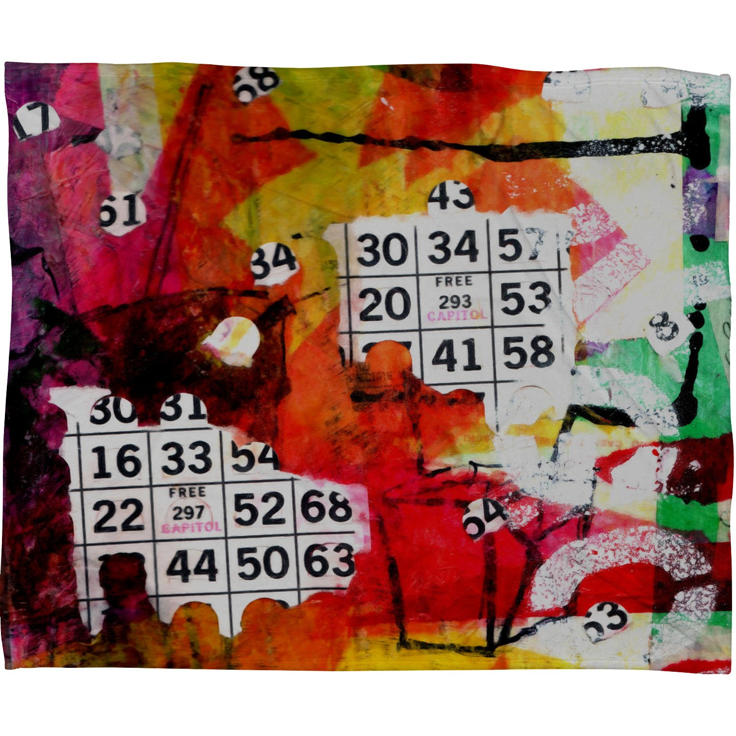 Deny Designs Sophia Buddenhagen Bright Bingo 2 Fleece Throw Blanket, 50 x 60 by Deny Designs