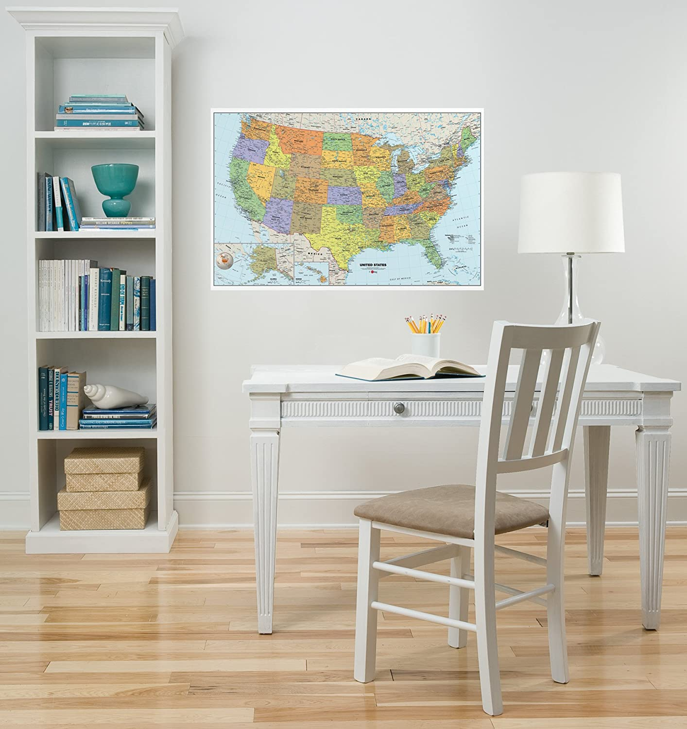 Amazon.com: Brewster Wall Pops WPE99073 Peel U0026 Stick USA Dry Erase Map With  Marker: Home Improvement