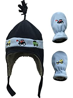4a83613507c N Ice Caps Little Boys and Baby Sherpa Lined Fleece Hat Mitten Embroidery  Set