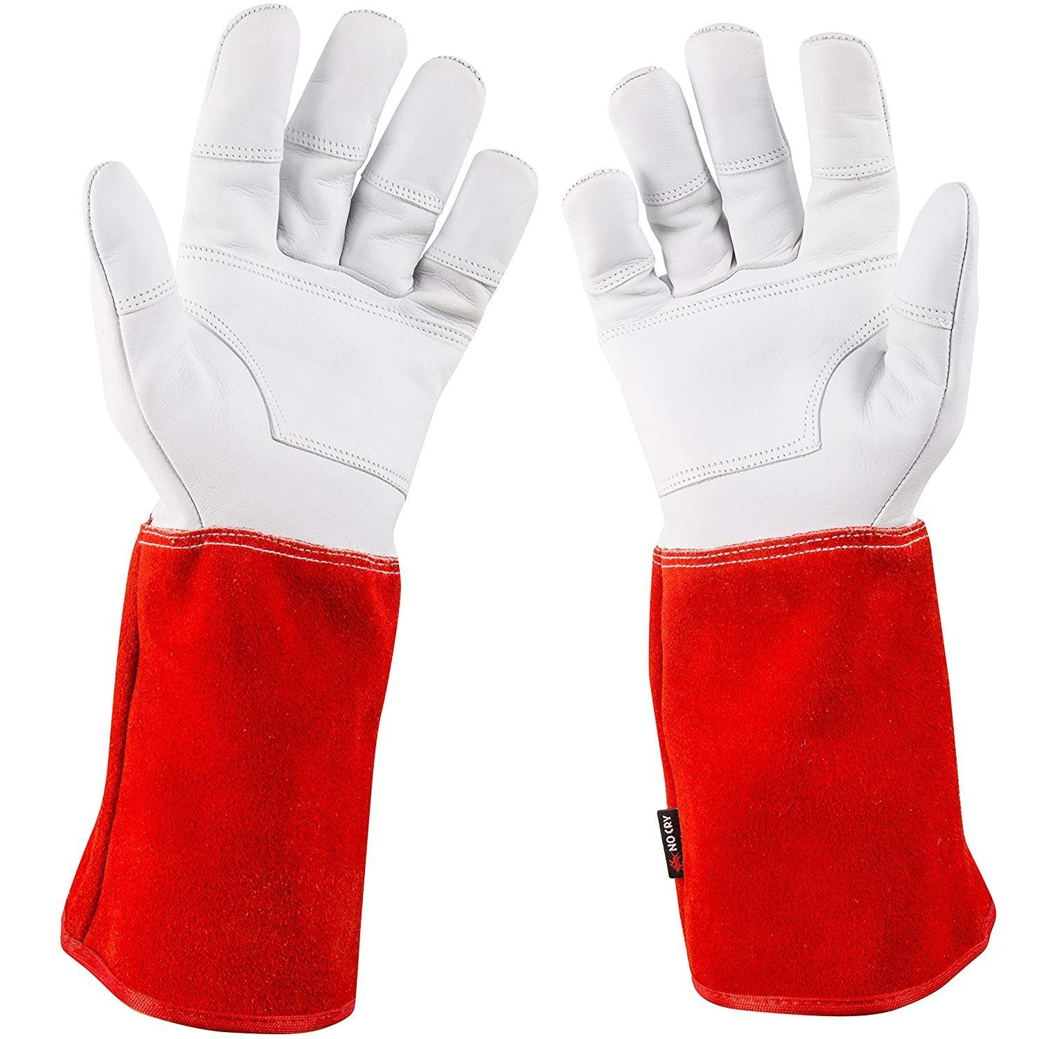 Puncture Resistant with Extra Long Forearm Protection and Reinforced Palms and Fingertips NoCry Rose Pruning Gloves Size Small