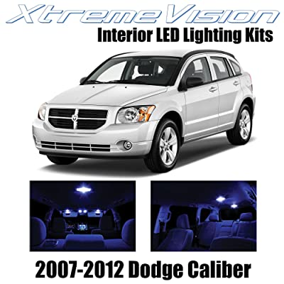 Xtremevision Interior LED for Dodge Caliber 2007-2012 (6 Pieces) Blue Interior LED Kit + Installation Tool: Automotive