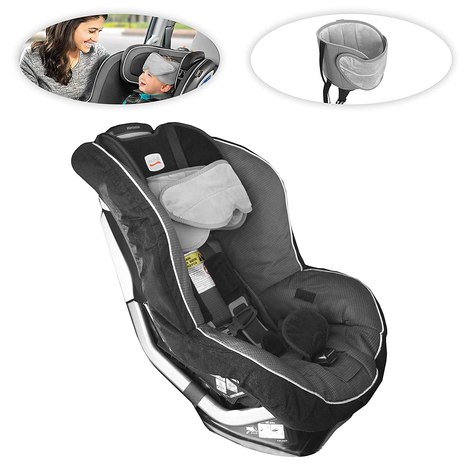 lebogner Car Seat Head Support Band, Adjustable Children Headrest Strap For Head And Neck Relief, Comfortable Baby and Toddler Head Holder, Kids Belt For Safe Sleeping In the Car Seat And Booster Seat