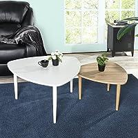 FurnitureR Mesas de Centro Minimalista Moderna Mesa Baja Mesa pequeña Mesa de Centro de la Esquina