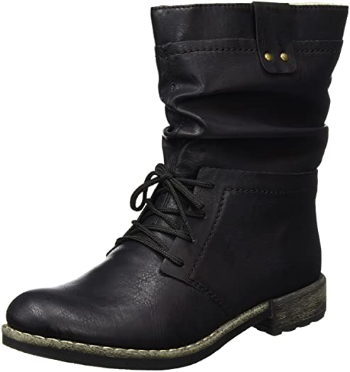 Women Boots black (schwarz) 74657-00