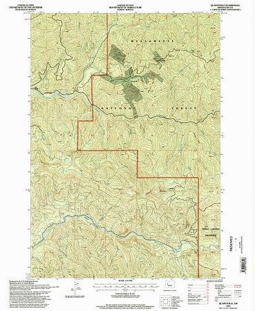 Amazon Com Yellowmaps Quartzville Or Topo Map 1 24000 Scale 7 5