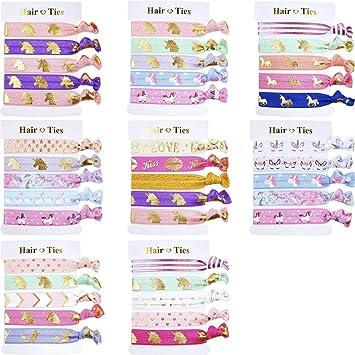 Amazon.com: BBTO 40 piezas unicornio colorido lazos para el ...