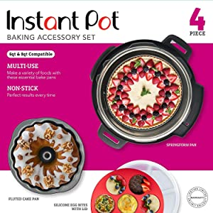 Instant Pot Official Bakeware Set, 4-piece, Assorted