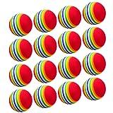 16 Pieces Sponge Golf Balls EVA Foam Golf Balls Practicing Training Indoor Golf Balls for Beginners Kids and Amateurs