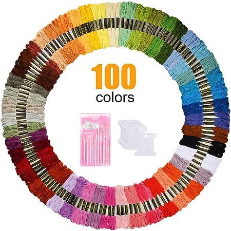 Garn Freundschaftsb/änder Stickgarn Baumwollgarn Embroidery Threads N/ähgarne Stickerei Basteln Oladwolf Stickgarn Set Stickerei Kreuzstich 150 Farbf/äden