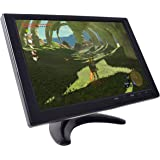Gaming Monitor, 10.1 inch HD TFT for NES SNES PS3 PS4 Xbox PC Nintendo Switch Car Backup System 1280x800 IPS LED Screen DC 12V MP5 Media Player Built-in Speaker HDMI VGA AV USB Video Input