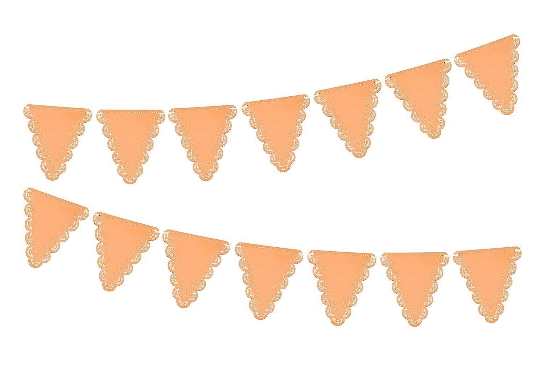 InviteMe 1 Elegante Pastel de Naranja banderines con Puntas ...