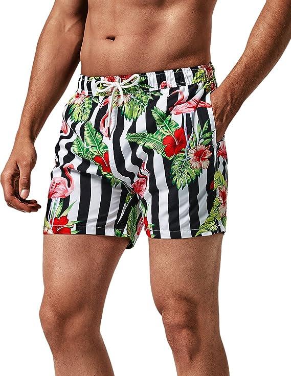 TALLA XL. MaaMgic - Bañador de playa tropical para hombre, secado rápido, con bolsillos, para vacaciones en verano